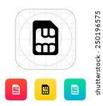 micro sim icon. vector...