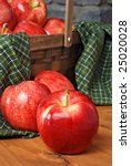 Gala Apples On Rustic Wood Wit...