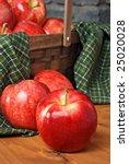 Gala Apples On Rustic Wood Wit...