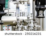 measure equipment  pipe and... | Shutterstock . vector #250216231