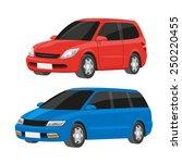 vector cartoon style family... | Shutterstock .eps vector #250220455
