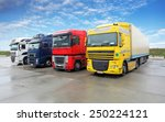 truck in warehouse   cargo... | Shutterstock . vector #250224121