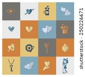 simple flat icons collection... | Shutterstock .eps vector #250226671
