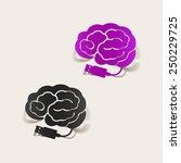 realistic design element  brain ... | Shutterstock .eps vector #250229725