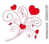 love hearts  | Shutterstock .eps vector #250231159