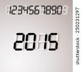 digits number set. vector... | Shutterstock .eps vector #250231297