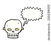 cartoon spooky skull mask with... | Shutterstock . vector #250239055