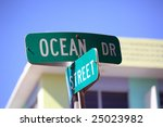sign of ocean drive in south beach florida