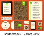 corporate identity. menu and... | Shutterstock .eps vector #250252849