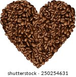 Heart Shaped Coffee Beans
