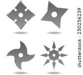 throwing stars   Shutterstock .eps vector #250256239