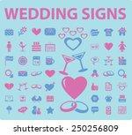 wedding  romance  love icons ... | Shutterstock .eps vector #250256809