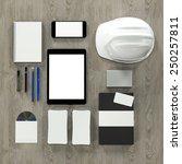 mockup business template. high... | Shutterstock . vector #250257811