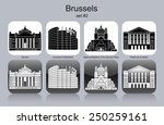 landmarks of brussels. set of... | Shutterstock .eps vector #250259161