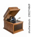 Isolated Antique Phonograph  ...