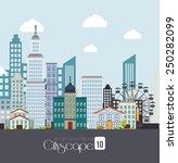 urban design over white...   Shutterstock .eps vector #250282099