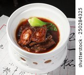 Small photo of Chinese dishes, braised abalone