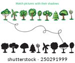 trees and silhoutte of trees on ... | Shutterstock .eps vector #250291999