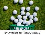 Golf Ball   Basket Grass...