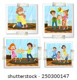 illustration of four family... | Shutterstock .eps vector #250300147