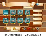 illustration of a computer game ... | Shutterstock .eps vector #250303135