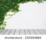 wooden board the white wall... | Shutterstock . vector #250304884
