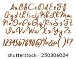 alphabet letters  numbers and... | Shutterstock . vector #250306024