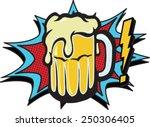 comic beer   Shutterstock .eps vector #250306405