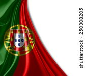 portugal flag and white... | Shutterstock . vector #250308205