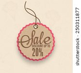 sale and discount upto 20  tag... | Shutterstock .eps vector #250311877
