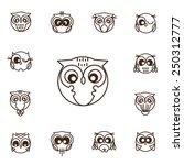 owl vector set   illustration | Shutterstock .eps vector #250312777