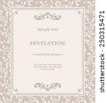 retro invitation card with... | Shutterstock .eps vector #250315471