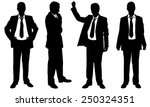 set of posing businessmen | Shutterstock .eps vector #250324351
