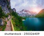 lake between mountains  | Shutterstock . vector #250326409