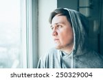 Stock photo closeup portrait of a disappointed young man 250329004