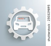 infographic with gear and car... | Shutterstock .eps vector #250329895