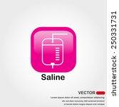 saline icon on white background | Shutterstock .eps vector #250331731