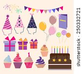 vector vector set of vector... | Shutterstock .eps vector #250332721
