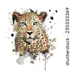 illustration leopard t shirt... | Shutterstock . vector #250333369