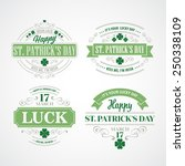typography st. patrick's day.... | Shutterstock .eps vector #250338109