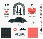set of wedding invitation... | Shutterstock .eps vector #250340305