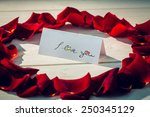 i love you against card... | Shutterstock . vector #250345129