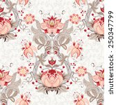seamless vector floral vintage...