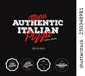pizza labels and badges | Shutterstock .eps vector #250348981