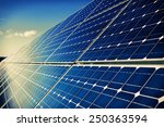 solar panels and sky background | Shutterstock . vector #250363594