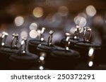 a lot of rings in jewelry... | Shutterstock . vector #250372291