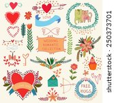 graphic set with design... | Shutterstock .eps vector #250373701