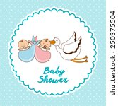 baby shower design  vector... | Shutterstock .eps vector #250375504