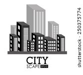 urban design over white... | Shutterstock .eps vector #250375774
