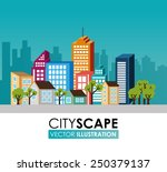 urban design over cityscape... | Shutterstock .eps vector #250379137
